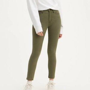 Levi's 721 High Rise Skinny Jeans in Olive Green